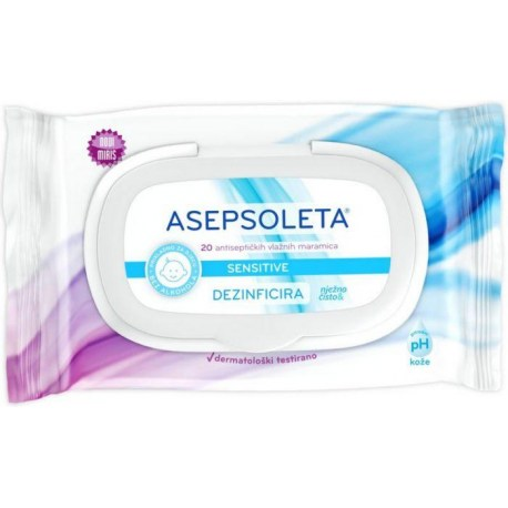 Asepsoleta Sensitive maramice, 20 kom.