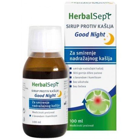 HerbalSept sirup Good Night umiruje nadražajni kašalj 100ml
