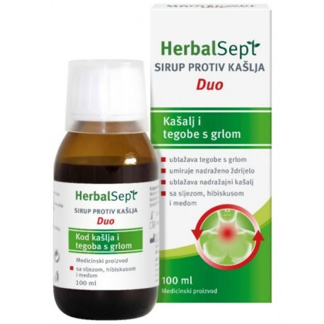 HerbalSept sirup Duo kod kašlja i tegoba s grlom 100ml