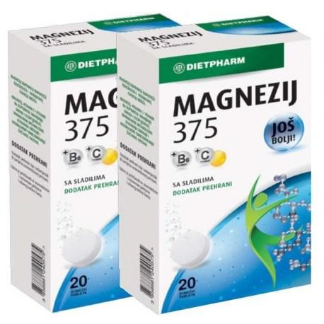 Dietpharm Magnezij 375mg šumeće tablete DUOPACK
