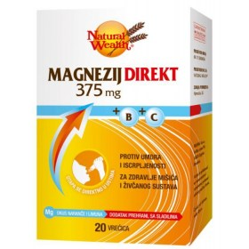 Natural Wealth Magnezij Direkt 375mg + B + C