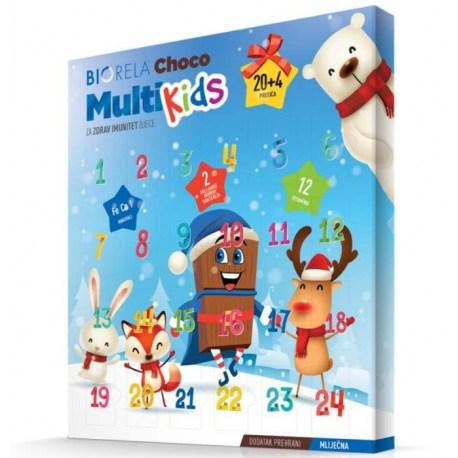 Biorela Choco Multi Kids Adventski kalendar 20+4 GRATIS