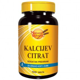 Natural Wealth calcium citrate 100 tablets