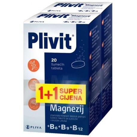Plivit Magnezij šumeće tablete 1+1 PROMO