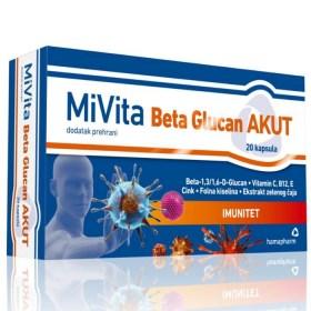 Hamapharm MiVita Beta Glucan AKUT 20x350mg