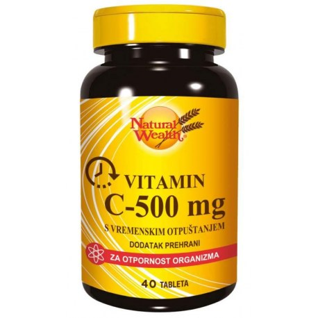 Natural Wealth C-500 mg s vremenskim otpuštanjem