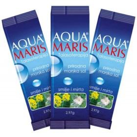 Aqua Maris bags of sea salt with et. oils 30 x 2.97g