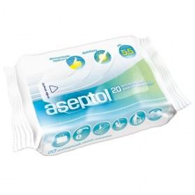 Aseptol antibacterial hand sanitizer wipes