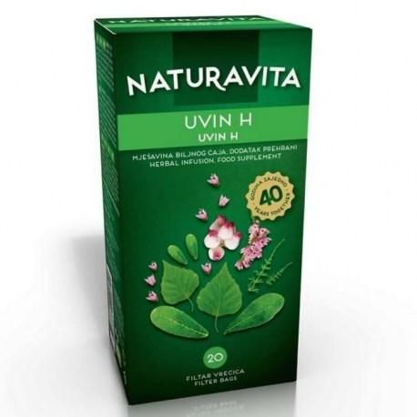Naturavita Uvin H čaj filter vrečiće 20 kom.