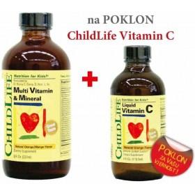 ChildLife Multivitamini i minerali + GRATIS Vitamin C