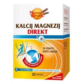 Natural Wealth Calcium Magnesium Direct + D