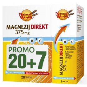 Natural Wealth Magnesium Direct 375mg + B + C PROMO PACKAGING