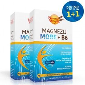 Natural Wealth Magnesium More + B6 1+1 FREE