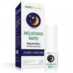 Melatonin Rapid Spray for Faster and Easier Sleep, 12ml