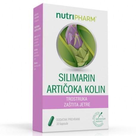 Nutripharm Silimarin artičoka kolin za zdravlje jetre