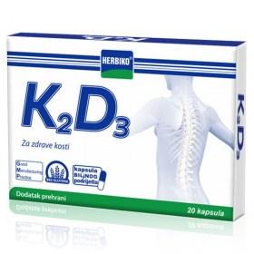 Herbiko K2D3 kapsule za zdrave kosti, 20 kom.