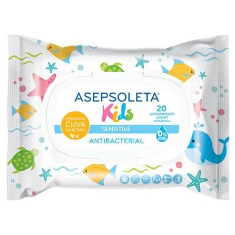 Asepsoleta Kids antibakterijske maramice