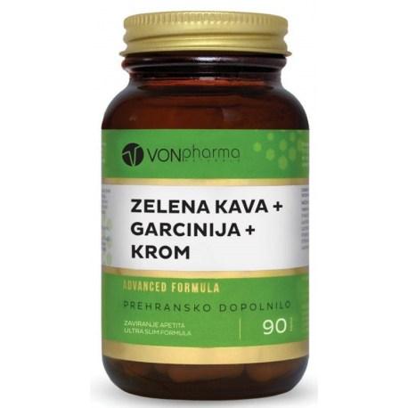 VONpharma ZELENA KAVA + GARCINIJA + KROM kapsule