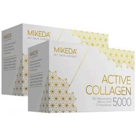 2X MIKEDA Active Collagen 5000 Anti-Age Beverage in Monodoses
