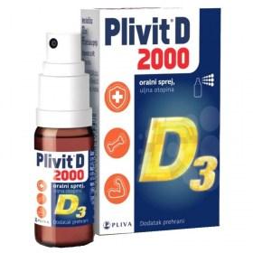 Plivit D 2000 oralni sprej 10ml