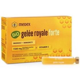 Medex BIO Gelée royale Forte 1,500mm royal jelly ampoules, 10x9ml