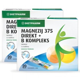 Magnezij 375 DIREKT + B kompleks DUOPACK