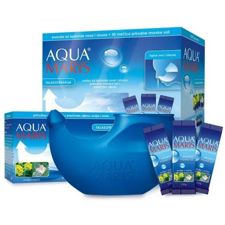 Aqua Maris Talaso sustav za ispiranje nosa s vrećicama morske soli s et. uljima